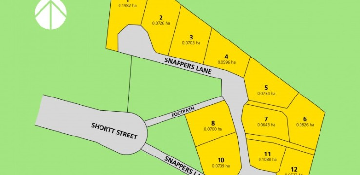Snappers Lane subdivision, Lots 1-12