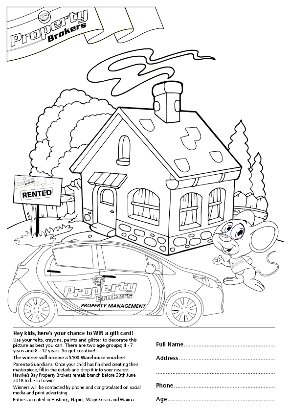 Hawke's Bay PM Colouring Competition Tile