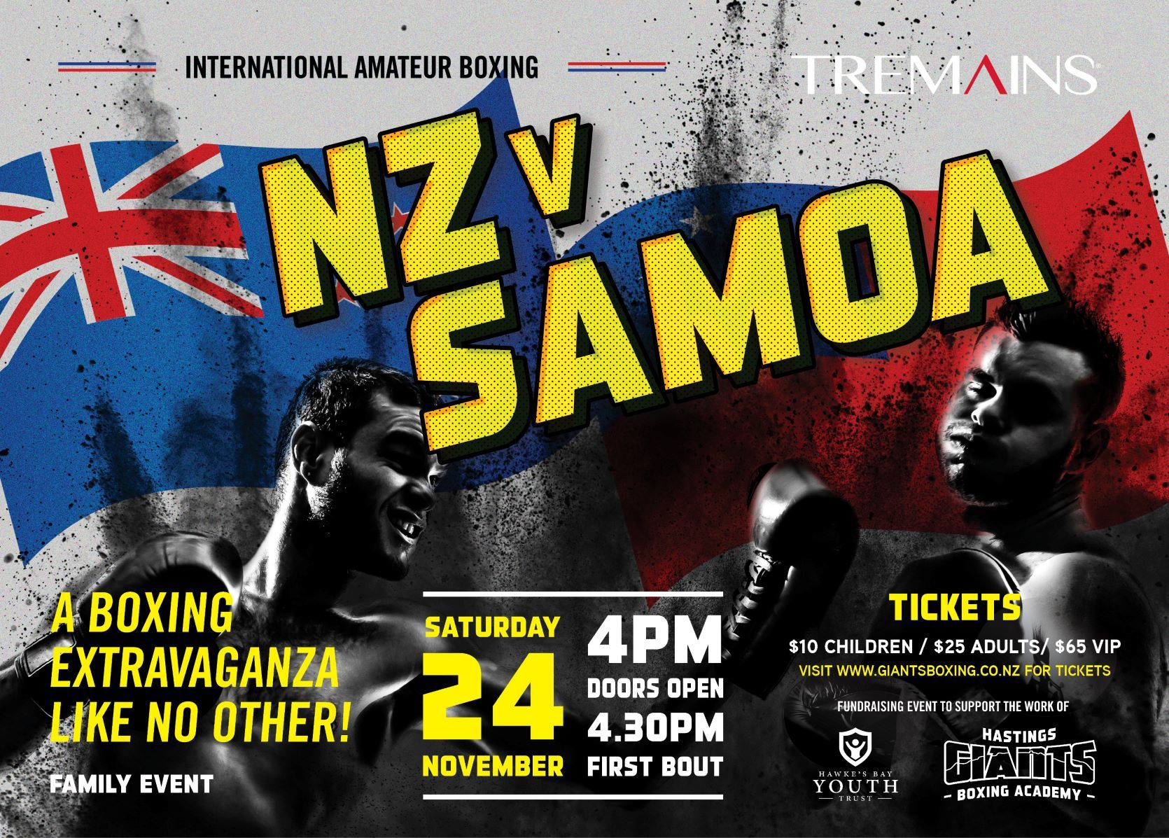 Giants Boxing Academy - NZ v Samoa